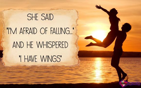 Org Inspirational Fear Wings Falling In Love