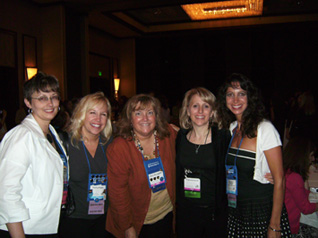 Some of my Wet Noodle Posse sisters and me–Trish Milburn, Theresa Ragan, Terry McLaughlin, and Stephanie Rowe
